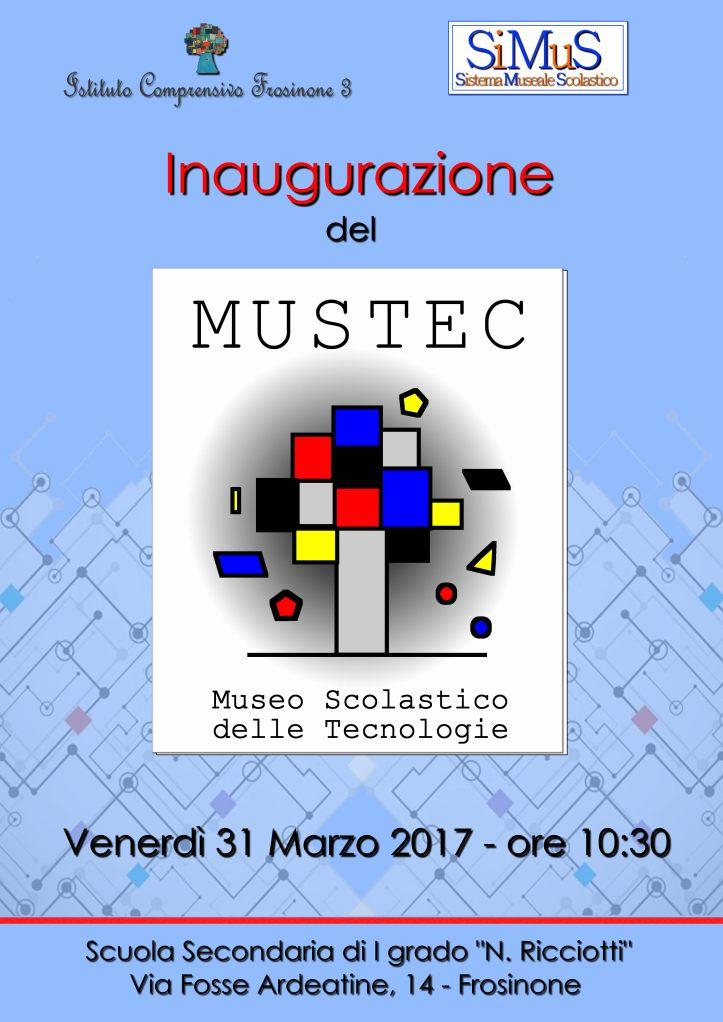 Locandina Inaugurazione MUSTEC